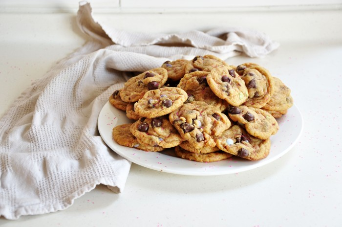 Vanilla Cake Batter Chocolate Chip Cookies (Cheat)