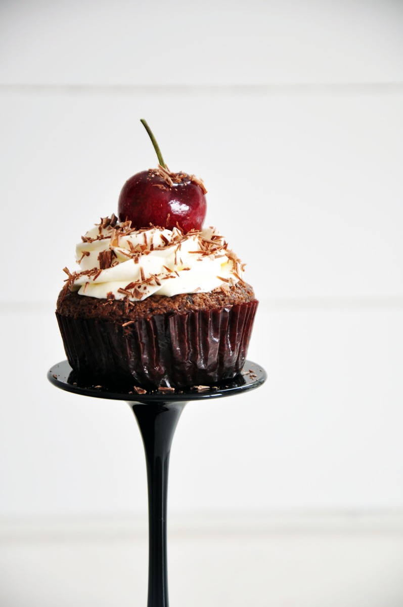 Coconut Flour Black Forest Cupcakes (Clean)
