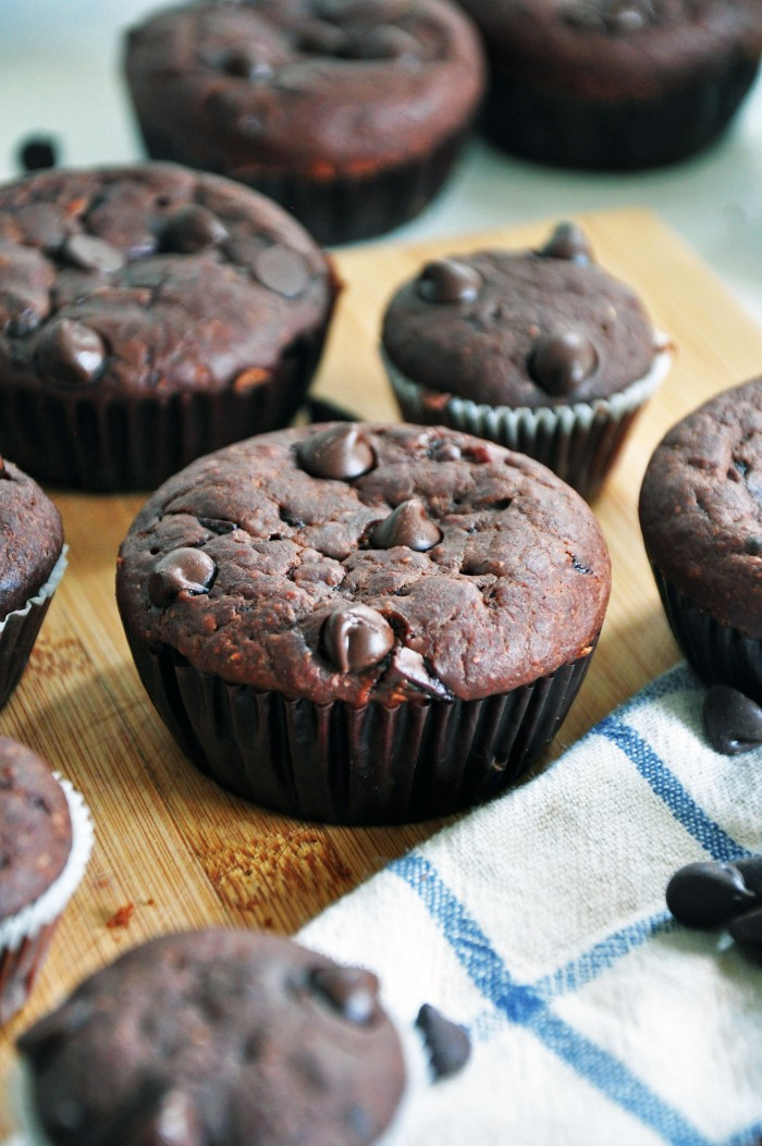 Whole Wheat Double Chocolate Muffins (Cheat)