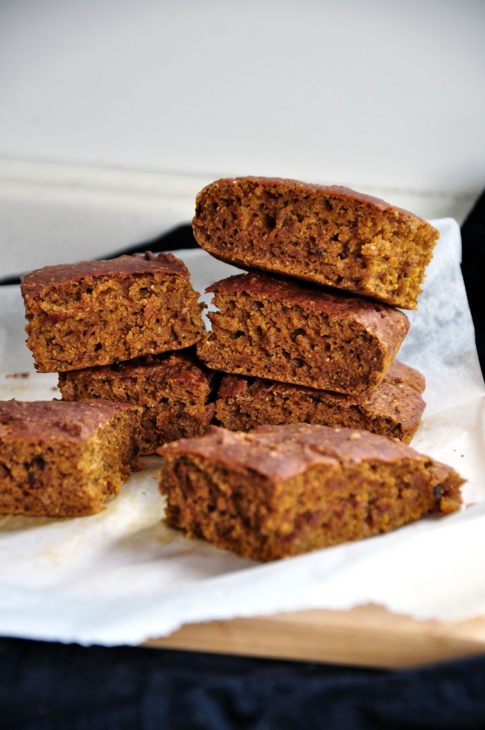 Vegan Spiced Pumpkin Bars (Clean)