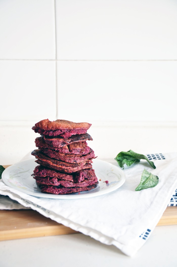 Red Velvet Beetroot Pancakes (Clean)