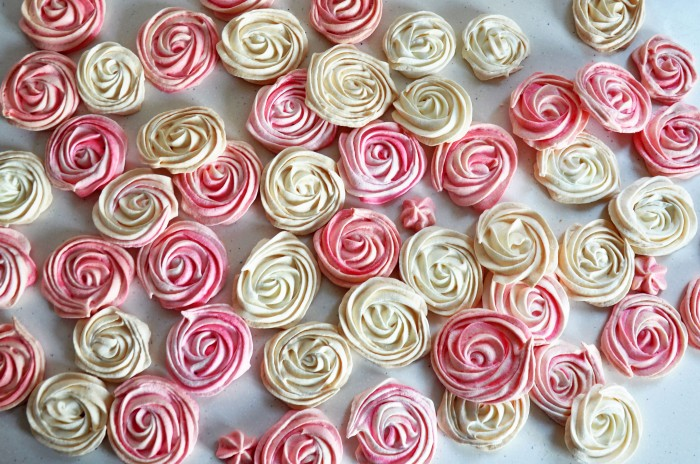 Rose Meringues (Cheat)