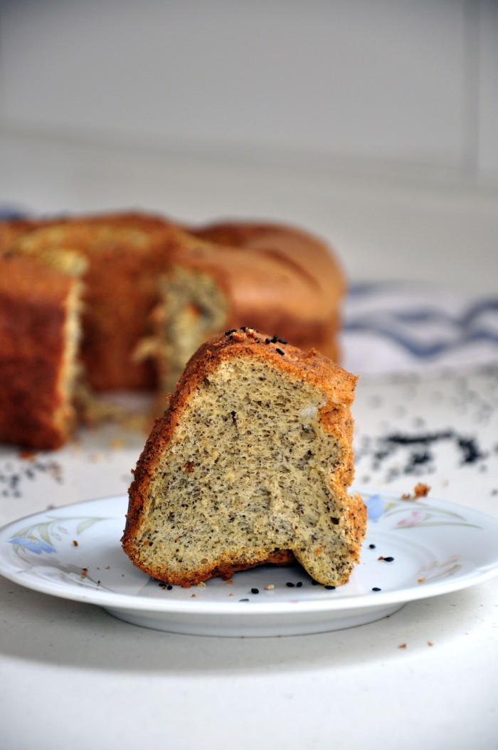 Black Sesame Chiffon Cake (Cheat)