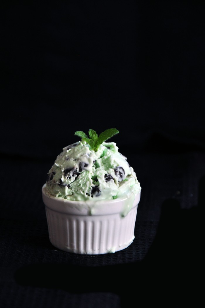 No-Churn Mint Chocolate Chip Ice Cream (Cheat)