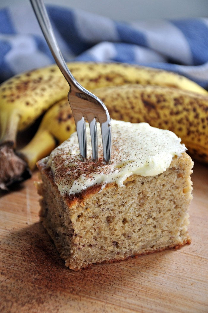 Best Banana Cake with Cream Cheese Frosting